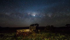 Old Wagon Under the Milky Way, South Australia photo by Jacqui Barker