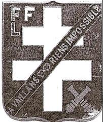 Insigne du peloton d'artillerie- - Fonds Jean Mathieu Boris