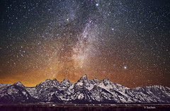 Milky Way over Grand Teton photo by Wind Walk