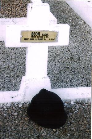 Santé- Tombe de Raoul Beon MPLF Tunisie - Col. Françoise Basteau