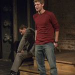 Rob Fenton (Kevin) and John Hoogenaaker (Dermot) in PORT AUTHORITY at Writers Theatre. Photo by Michael Brosilow.