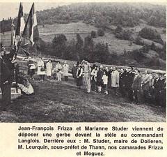 Franche Comté- Dolleren- 1971 -  Commémoration à Dolleren