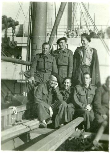 1ère Cie des Chars-  1940 sept- A bord du Pennland  - Col P. Robedat