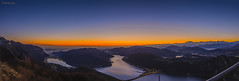 Sunset from Alps to Appennins photo by Lollo Riva