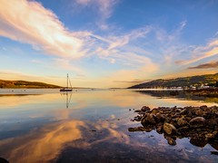 Sunset View from Tighnabruaich Beach photo by Bathsheba 1