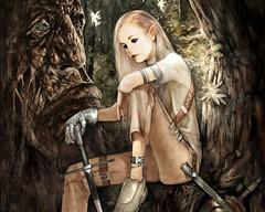 Guerrière elfe