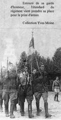 1944 - Lyon- Présentation de l'étendard du 11e Cuirassiers