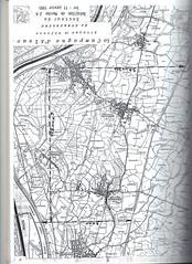 Carte Campagne d'Alsace 1-11 janvier 45- secteur du BM 24 - Source  Carnet de route d'André Sébart BM 24