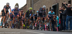 Mark Cavendish leads the riders over the top of Montrose Street, cycling national road race championships, Glasgow photo by www.kevinoakhill.com
