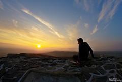 Moel Famau Sunset Selfie photo by Rob Pitt