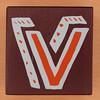 Bob and Roberta Smith Alphabet Block Letter V