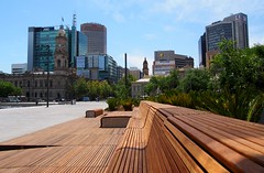 Benches at the new Victoria Square photo by Adriano_of_Adelaide
