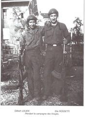 1945- Franche Comté- Gilbert Julien et Elie Rossetti pendant la campagne des Vosges- Col. Elie Rossetti