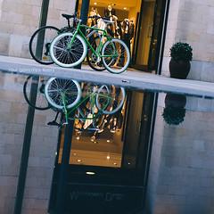 Bikes in mirror photo by raul gonza|ez