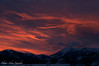 02/24/14-  Red at night, skiers delight?  Sunset over Teton Pass.