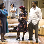 Cheryl Lynn Bruce (Elizabeth), Wandachristine (Quilly), Alexis J. Rogers (Lou Bessie), and Kelvin Roston Jr. (Husband)  in THE OLD SETTLER at Writers Theatre. Photos by Michael Brosilow.