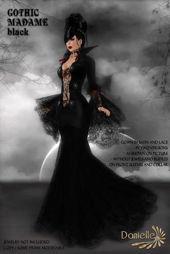 DANIELLE Gothic Madame Black