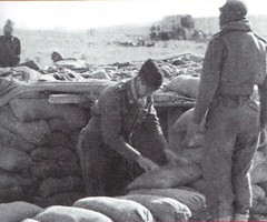 Bir Hakeim 1942 - trou et sacs de sable