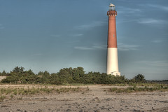 Barnegat Lighthouse Long Beach Island in HDR photo by Eugene Lagana