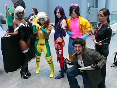 Storm, Rogue, Psylocke, Jubilee, Lady Deathstrike, and Logan photo by gluetree