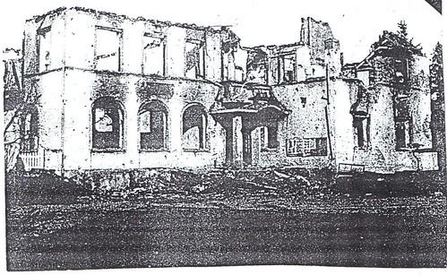 Alsace- 1945- Obenheim - Mairie PC du BM 24 11 janvier 44 - Source  Carnet de route d'André Sébart BM 24