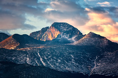 Daybreak on Longs Peak photo by glness