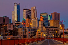Stone Arch Bridge Minneapolis city view photo by Saibal K. Ghosh