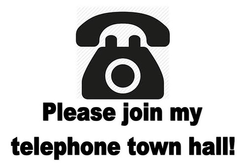 telephone town hall graphic