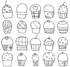 Download cupcake drawing Vector For Free! photo by Freevectorzone