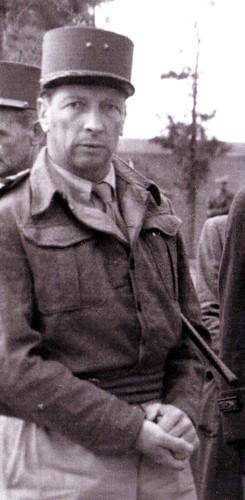 1943 - Tunisie - général Brosset portrait - Col. Alain Jacquot-Boileau