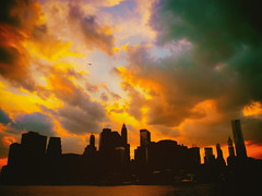 New York City Skyline at Sunset on a Stormy Evening photo by Vivienne Gucwa