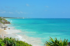 Solitude on the beach - Tulum - Mexico - 2014 photo by cpcmollet