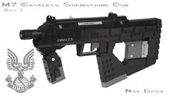 Halo 3 M7 Caseless Submachine Gun photo by Nick Brick