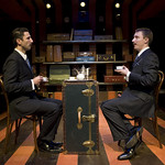 Sean Fortunato and  John Hoogenakker in TRAVELS WITH MY AUNT at Writers Theatre. Photos by Michael Brosilow.