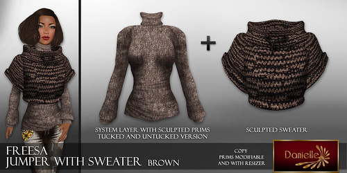 DANIELLE Jumper With Sweater Brown
