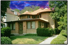 George W. Furbeck House ~ Oak Park Il ~ Architect ~  Frank W Llyod Wright ~ Film 1990s photo by Onasill