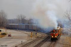 Westbound NS Local Train at Randolph, MO photo by Nanner Hogger