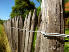 Wooden Garden Fence photo by Batikart