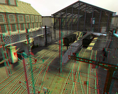 Half-Life2 3D01-Train Station (Anaglyph) photo by Phaota2