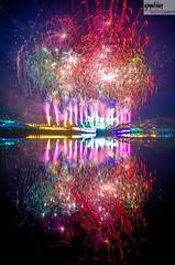 Fireworks across Hatirjheel photo by the আলোকচিত্ৰকর™