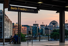Station with a view - Berlin Friedrichstraße photo by Maria_Globetrotter