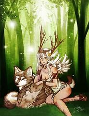 L'esprit des bois et le loup