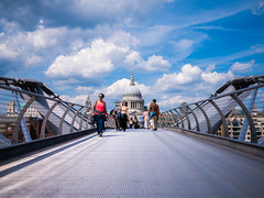 [Explored] Millennium Bridge with St Paul's photo by Amit Kapadia