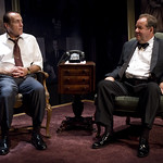 Larry Yando (Nixon) and William Brown (Henry Kissinger) in NIXON'S NIXON at Writers Theatre (2008). Photo by Michael Brosilow.