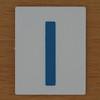 TESCO Hangman blue letter I