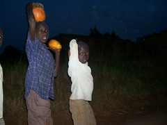 Invisible Children Entering Gulu Village at night