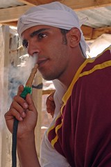 Jordan - Smoking a narjileh in Petra photo by CharlesFred