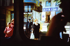 Scene from a Krasnoyarsk bus-stop photo by Stephen Dowling