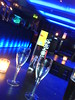 Champagne glasses in back room bar of Tokyo nightclub in Le Monde on Edinburgh's George St