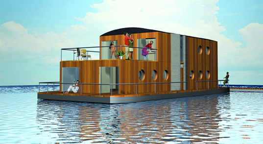 Waterliving houseboat, Swan model